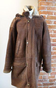 Vintage Hammer Shearling Sheepskin Jacket Size 42 by TheOldBagOnline on Etsy