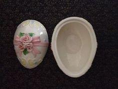 Vintage Lefton Easter Egg Covered Ceramic Candy Dish  | eBay