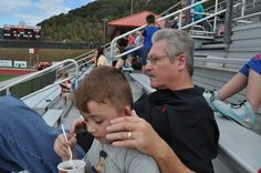 Papa and Parker at Trev's game. <3 10-7-17