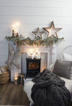 Neutral Minimalist Christmas Living Room