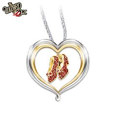 """The Wizard of Oz™ """"Over The Rainbow"""" Heart-Shaped Swarovski® Crystal Pendant… Rainbow Heart, Over The Rainbow, Wizard Of Oz Collectibles, Heart Shaped Necklace, Ruby Slippers, Wicked Witch, Crystal Pendant, Jewelry Gifts, Jewelry Box"""