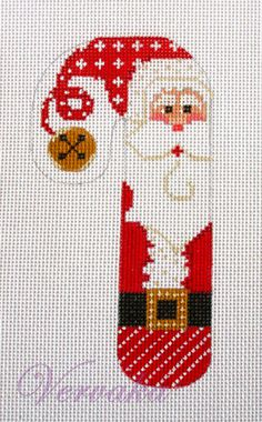 Cross-stitch Decorative Christmas Candy Cane, part 3... no color chart, just use pattern chart colors as your guide.. or choose your own colors.... Gallery.ru / Фото #184 - ПЕЧАТНАЯ КАНВА - GAVRUCHA