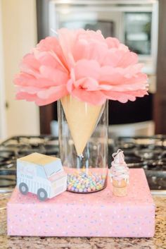 Ice Cream Themed Birthday Party - This Little Home of Mine - - Around here, the end of summer is known as Birthday Season, and this year, an Ice Cream Themed Birthday Party it was! Take a peek inside! Ice Cream 1, Ice Cream Party, 4th Birthday Parties, Birthday Party Decorations, Birthday Themes For Girls, Home Birthday Party Ideas, Baby Birthday, Birthday Wishes, Ice Cream Social