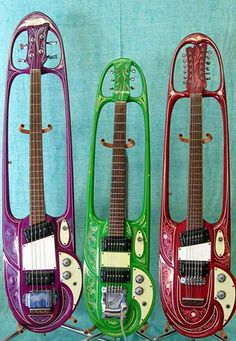 1960s Mosrite guitars made for the Strawberry Alarm Clock...cool!