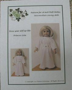 PDF Pattern Princess Leia Gown   fits American by donnacotterman, $8.00