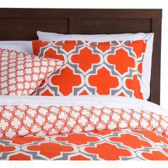 Full/Queen Orange Gray Fresh Start 3 piece Comforter Set - Quality House