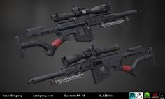 ArtStation - Revamped AR-15 .50 BMG (Low Poly & Textured), Joshua Gregory