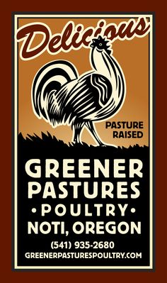 Greener Pastures Poultry logo - It tastes like chicken.