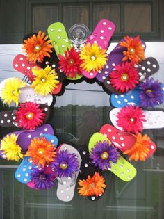 Cute flip flop wreath