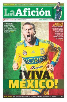 Aquí la Portada de La Afición de hoy 15 de Febrero de 2013 – ¡VIVA MÉXICO!; El delantero argentino de Tigres, Emanuel Villa, ya inicio los tramites para ser mexicano.