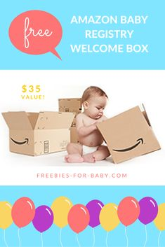 FREE Amazon Baby Registry Welcome Box filled with full-size baby products + baby samples. $35 value! Go Here => http://freebies-for-baby.com/4211/free-amazon-baby-registry-welcome-box-35-value/ #AmazonBabyRegistry #AmazonBaby #BabyRegistry