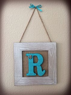 Christmas Gift, Shabby Chic Framed Monogram, Rustic Decor, Home Decor, Gifts for Her, Holiday Gifts, Tightly Wound Designs by TightlyWoundDesigns on Etsy https://www.etsy.com/listing/244246004/christmas-gift-shabby-chic-framed