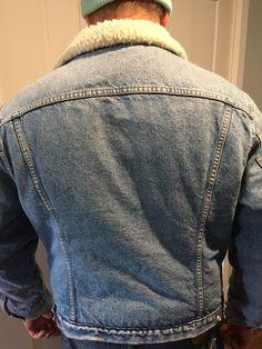 Vintage Levi's Strauss Men's Sherpa Denim Jacket Jean Sz 48 Trucker 70's   eBay