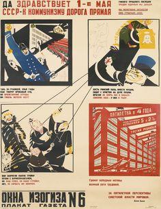 Moor, Dmitri DA ZDRASTVUET 1-E MAYA SSSR-K KOMMUNISMU DOROGA PRYAMAYA [HAIL THE FIRST OF MAY, THE USSR IS THE STRAIGHT ROAD TO COMMUNISM]. MOSCOW-LENINGRAD: OGIZ-IZOGIZ, 1931