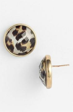Kate Spade NY Show Your Spots Leopard Animal Print Stud Earrings New Jewelry Box, Jewelery, Jewelry Accessories, Fashion Accessories, Fashion Jewelry, Kate Spade Earrings, Stud Earrings, Animal Earrings, Little Presents