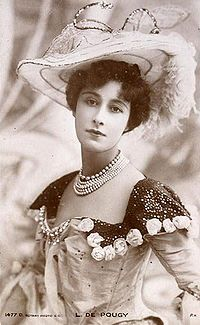 Liane de Pougy (2 July 1869 – 26 December 1950), was a Folies Bergères dancer renowned as one of Paris's most beautiful and notorious courtesans.