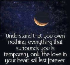 Only Love lasts forever