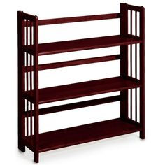 Casual Home Honey Oak Folding/Stacking Open Bookcase 0949520830 - The Home Depot