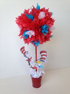 Dr Seuss birthday party decoration centerpiece, Dr Seuss birthday party ideas, by AlishaKayDesigns