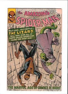 AMAZING SPIDER-MAN #6 Silver Age key issue: First appearance of Lizard!! http://r.ebay.com/k9vxbi