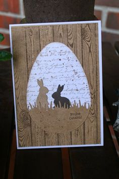 Almost a bit late - the last two Easter cards only on Easter Monday . - DIY - Karten Frühjahr-Ostern - Almost a bit late – the last two Easter cards should not be uploaded until Easter Monday. Easter Art, Easter Crafts, Easter Bunny, Diy Easter Cards, Handmade Easter Cards, Easter Greeting Cards, Easter Monday, Animal Cards, Paper Cards