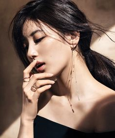 Suzy Bae is The Latest Star to Endorse French Jewelry Brand 'Didier Dubot' Korean Beauty, Asian Beauty, Miss A Suzy, Idole, Portraits, Korean Actresses, Asian Actors, Korean Celebrities, Jewelry Branding
