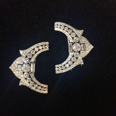 A pair of elegant diamond French Art Deco clips at Betteridge