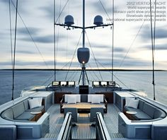 S/Y Vertigo - 220' megayacht by Alloy Yachts - stylish aft deck