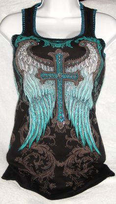 KWMC Motocycle Boutique - Vocal BLING Eagle Tank Black,Blue sparkles ALL SIZES! , $29.99 (http://stores.kwmcmotorcycleboutique.com/vocal-bling-eagle-tank-black-blue-sparkles-all-sizes/)