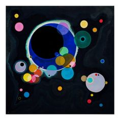 Kandinsky Several Circles Abstract Painting