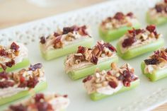 "Goat Cheese Celery Bites Appetizer - ""Grown up ants on a log"""