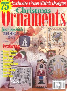 75 Christmas Ornaments to Cross Stitch - click on the cover; it will take you through the entire magazine.