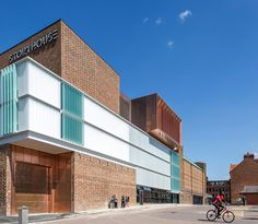 Bennetts Associates converts Art Deco cinema into cultural centre in northern England - Architecture Cinema Architecture, British Architecture, Modern Architecture House, Modern House Design, Amazing Architecture, Architecture Details, Vernacular Architecture, Facade Design, Exterior Design