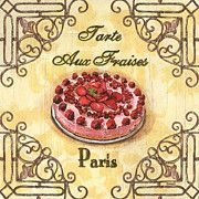 French pastry Poster - French Pastry 1 Poster by Debbie DeWitt. French Bakery, French Pastries, French Patisserie, Wall Art Prints, Fine Art Prints, Rose Basket, Pastry Art, Garden Painting, French Vintage