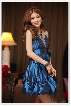 korean fashion wholesale jk women dress k8348 Blue