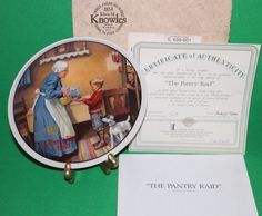 Knowles The Pantry Raid Collector Plate ~ Norman Rockwell Mother's Day 1986