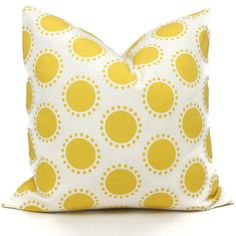 Schumacher Studio Bon Indoor Outdoor Yellow Oompa Pillow Cover, Square Lumbar or Eurosham, Schumacher