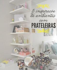 Ideas For Makeup Storage Ideas Shelves Beauty Room Home Bedroom, Bedroom Decor, Decor Room, Bedrooms, Make Up Storage, Storage Ideas, Glam Room, Beauty Room, New Room