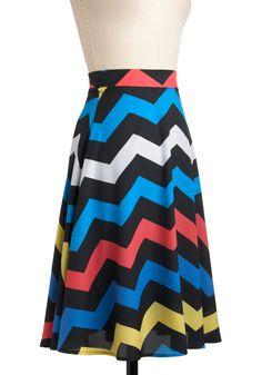 Electric Zigzag Skirt | Mod Retro Vintage Skirts | ModCloth.com