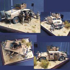 M1114 Frag 5 SOF Bronco  Airborne Miniatures PART2 By: makinen From: humvee-models  #scalemodel #diorama #hoby #modelismo #miniatura #miniature #maqueta #maquette #modelism #plastickits #usinadoskits #udk #plastimodelo #plasticmodel #modelisme