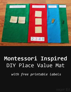 P is for Place Value Mat | DIY Montessori Math Materials | eager Ed