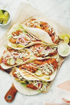 What's better than vegan chicken? Putting it into a vegan chicken taco. Vegan Milk, Vegan Vegetarian, Small Food Processor, Food Processor Recipes, Lauren Toyota, Vegan Mayonnaise, Stuffed Mushrooms, Stuffed Peppers, Chicken Tacos