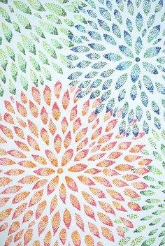 simple way to create a stunning pointillism flower Stippling Drawing, Box Frame Art, 4th Grade Art, Math Art, Dot Art Painting, Diy Canvas Art, Art Journal Inspiration, Art Techniques, Art Tutorials