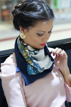 How to Wear: Hermes Silk Scarf #AnhsStyle More: http://designerswap.ca/outfit-of-the-day-featuring-the-hermes-silk-scarf/