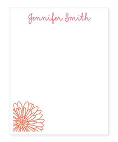 Love this Flower Personalized Notepad on #zulily! #zulilyfinds