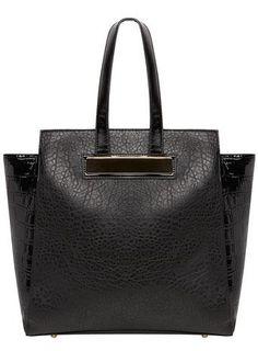 Sleek classic black tote
