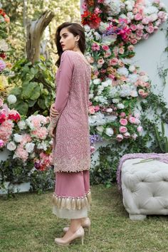 eid dress 2018 - Beautiful Mauve embroidered Pakistani unstitched dress by Imrozia premium embroidered dresses 2018 Shadi Dresses, Pakistani Formal Dresses, Eid Dresses, Pakistani Dress Design, Pakistani Outfits, Indian Dresses, Fashion Dresses, Women's Fashion, Stylish Dresses