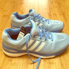 NWT Adidas Boost Baby Blue Sneakers NWT never worn Adidas Sneakers, currently retailing at $108 Adidas Shoes Athletic Shoes