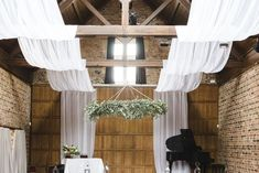 Hanging floral wreaths are going to be one of the big 2018 wedding trends. Whether you're in a luxury marquee or indoors, why not add some greenery to your décor? Wedding Draping, Tent Wedding, Gold Wedding, Spring Wedding, Wedding Venue Inspiration, Wedding Ideas, Arabian Tent, 2018 Wedding Trends, Wedding Furniture