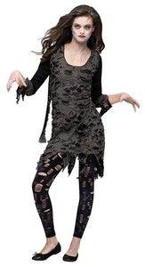 Juniors Girls Zombie Costume Ripped Dress Leggings Fancy Halloween Scary Teen | eBay
